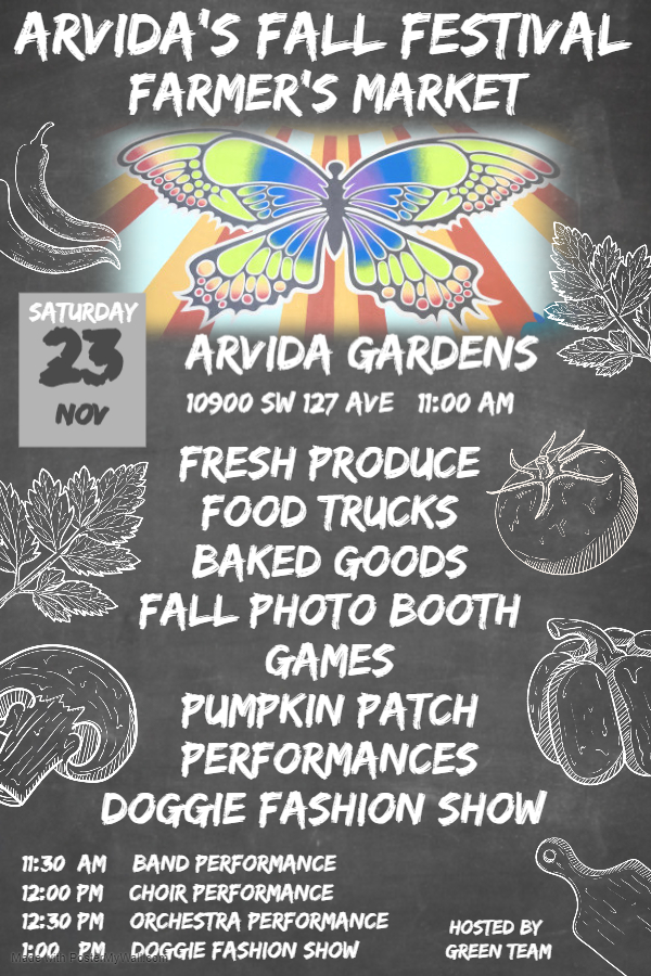 Fall Festival Farmer's Market @ Arvida Gardens | Miami | Florida | United States