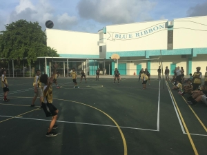 Arvida Middle School Students Playing Basketball